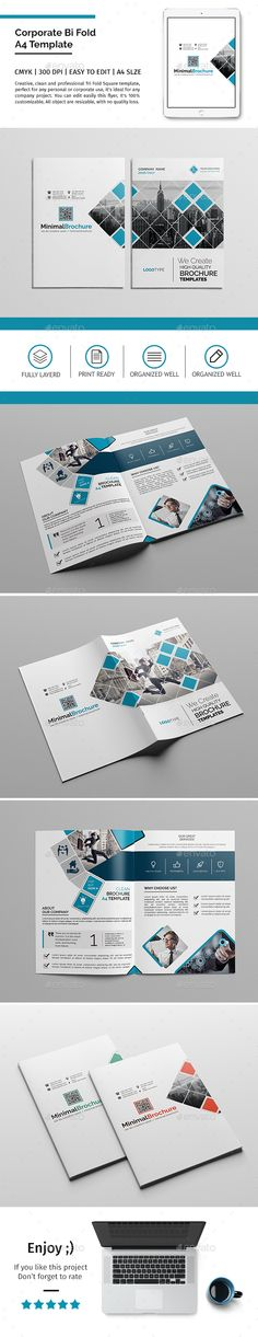 Corporate Bi-fold Brochure Template PSD. Download here: http://graphicriver.net/item/corporate-bifold-brochure-template-10/16066760?ref=ksioks