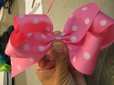 Hair Bow tutorial(for those who wonder how I make Sarah bows this is one tutorial for one type of bow I like to make her)
