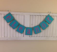 Personalized Name Banner Bunting Garland Choose by EncoreBanners