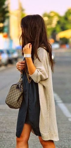 #fall #fashion / oversized knit cardigan