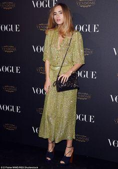 Fashionista: Model Suki Waterhouse, 23, made another stylish appearance during Paris Fashi...