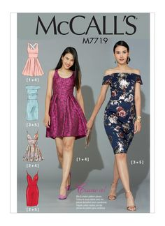 Sewing Pattern for Misses' Dresses with Bodice and Skirt Variations, McCall's Pattern New Pattern, Women's Dress Pattern, Create It! Clothing Patterns, Dress Patterns, Mccalls Sewing Patterns, Pattern Sewing, Miss Dress, Straight Skirt, Sewing Clothes, Dress Skirt, Pleated Skirt