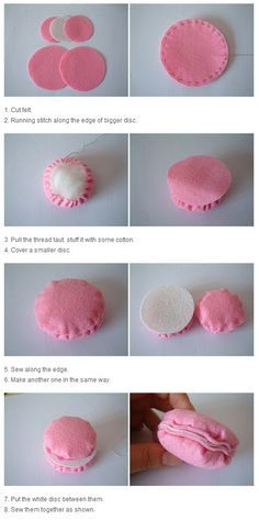 macaron felt template - Buscar con Google