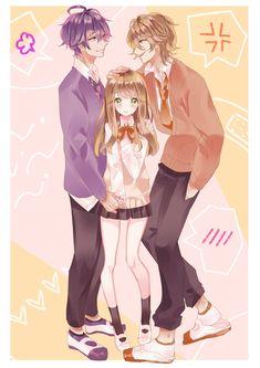 Twitter Anime Siblings, Anime Couples Manga, Cute Anime Couples, Manga Cute, Anime Girl Cute, Anime Art Girl, Anime Cupples, Anime Kawaii, Anime Guys