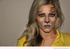 Cool Halloween makeup, like a tiger