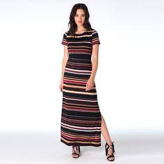 Women's Indication by ECI Striped Maxi Dress, Size: