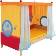 Detská posteľ Matti s nebesami červená - Detské postele - Detská izba - Hračky a Detský nábytok- Detský Sen - Maxus