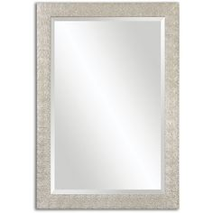 Uttermost Porcius Antiqued Silver Bevelled Mirror-- 29 inches wide, 41 inches in height. Sunburst Mirror, Diy Mirror, Beveled Mirror, Mirror House, Floor Mirror, Vintage Mirrors, Framed Mirrors, Beautiful Mirrors, Texture