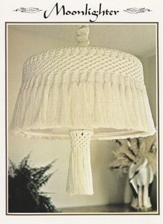 11 Macrame Patterns - Room Dividers Plant Hanger Wall Decor Valances Window Dressing Lamp Shade - Juliano's Hang It All Book 4 - SewJewel - 10
