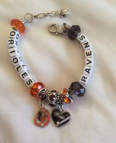 BALTIMORE Orioles and Baltimore Ravens inspired Jewelry by SWANKEE