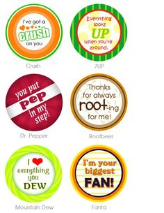More Soda Bottle Labels....not just for Valentine's very cute idea
