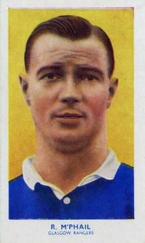 1939 R & J Hill Famous Footballers Series 1 #14 Bob McPhail Front