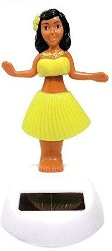 Set of 2~ Dancing 1 Pink 1 Yellow Solar Toy Hawaiian Alola Car Decor Birthday Solar Toy US Seller >>> Additional info @