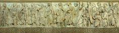 Ara Pacis (particolare Processione), 13-9 a.C., marmo. Dal Campo Marzio, Roma, Italia. Museo dell'Ara Pacis, Roma, Italia.