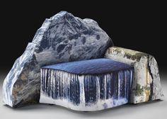 Созданная известным итальянским дизайнером и архитектором Гаэтано Пеше коллекция мягкой мебели Montanara для Meritalia по форме и расцветке воссоздает всю красоту великолепных альпийских пейзажей.