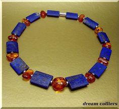 Bernstein - Ostseegold - Lapis Lazuli & Bernstein - ein Designerstück von Dream-Colliers bei DaWanda