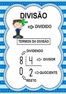 Portal Escola: Termos das quatro operações matemáticas Preschool Fine Motor Skills, English Class, Professor, Homeschool, Knowledge, Teacher, Education, Math, 1