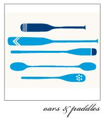 oars and paddles card / Fig & Tulip