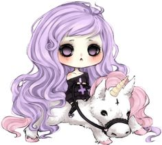 Pastel goth and unicorn