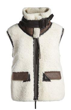 Calvin Klein Collection Дубленка-жилет Белый 152 500 Р.