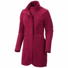 Mountain Hardwear Toasty Tweed Fleece Jacket (For Women) in Rich Wine