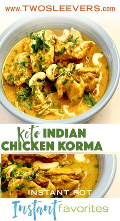 Instant Pot Indian Chicken Korma (Keto) – Two Sleevers