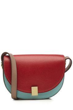VICTORIA BECKHAM - Nano Half Moon Box Leather Shoulder Bag | STYLEBOP
