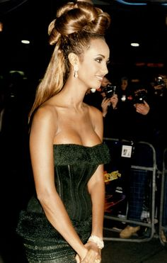 Long career: Iman, pictured at the premiere of Star Trek VI in began her career in 1975 aged 20 Iman Bowie, Iman And David Bowie, Iman Model, Supermodel Iman, 90s Models, Fashion Models, Ysl, Star Trek Vi, Bombshell Beauty