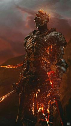 (Soul of Cinder - Dark Souls - Dark Souls/Bloodborne - Majestic. (Soul of Cinder – Dark Souls - Dark Fantasy Art, Fantasy Armor, Medieval Fantasy, Dark Art, Arte Dark Souls, Illustration Fantasy, Soul Saga, Arte Horror, Cinder
