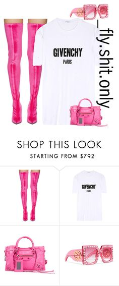 """""""Untitled #2463"""" by flyyshitonly ❤ liked on Polyvore featuring Balenciaga, Givenchy and Gucci"""
