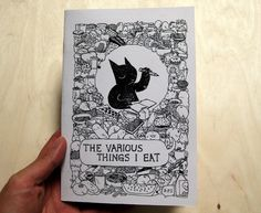 "The Various Things I Eat Zine ""8""x5.5"", 28 pages with a 60lb cardstock cover. I drew everything I ate for 5 months and put it in a zine."""