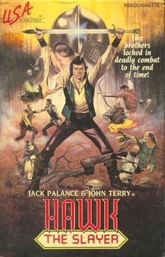 Of all the video art I've listed here, this is the only one from a movie I've actually seen, and yes: It is every bit as good as you'd expect a fantasy epic starring Jack Palance to be.