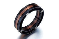 Unisex Ring/Unisex Jewelry/Men's Black Ring Men/Mens Jewelry/Steampunk Men Ring/Hipster Jewelry/Edgy Ring/Cool Jewelry/Edgy Jewelry on Etsy, $12.75