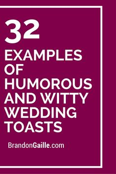 how to end a wedding toast examples