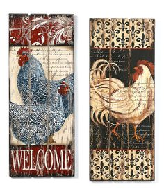 Rooster Wall Décor Set