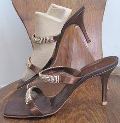 GIUSEPPE ZANOTTI sz 8 1/2, 8.5, Bronze Jeweld High Heel Sandal