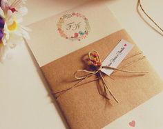 Convite de Casamento Rústico Fabiana
