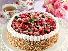 Beautiful Italian Torte with fresh berries