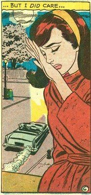 "Comic Girls Say.. "". But I did care ..."" #comic #popart #vintage"