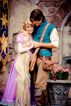 If only I could talk Eric into dressing up as Flynn Ryder...well and if I had that long hair--cut Halloween couple idea