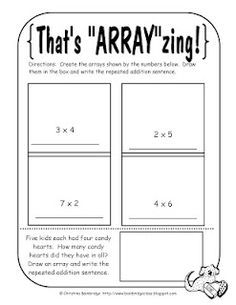 math worksheet : free resource arrays worksheet! students look at an array and  : Array Math Worksheets