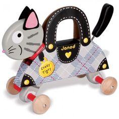 Janod  'Crazy Tigry' Pull-Along Cat