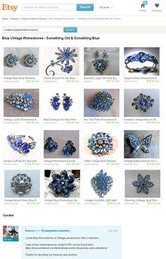 Blue Vintage Rhinestones - Something Old and Something Blue Bridal Gigts