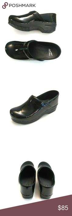 9409d3d4df0b Dansko Womens Black Patent Leather Clogs Dansko Women s Black Patent Leather  Professional Clogs Size EU 41