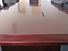 The beveled edge of the conference table Conference Table, Walnut Wood, Baltimore, Modern, Trendy Tree