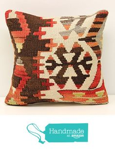 Turkish Handmade kilim pillow cover 12x12 inch (30x30 cm) Throw Kilim pillow cover Sofa Decor Small Pillow cover Accent Kilim Cushion Cover from Kilimwarehouse https://www.amazon.com/dp/B01M61WFJM/ref=hnd_sw_r_pi_dp_mW5-xbT2G2HV4 #handmadeatamazon