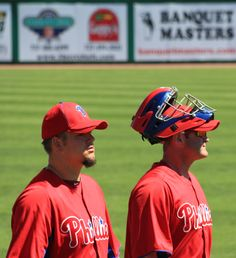 Brian Schneider and Joe Blanton Clearwater, Fla. 3/12.