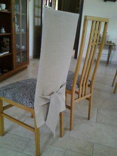 Forro para silla con moño
