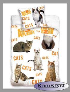 Kolejna nowość w naszym sklepie - pościel dla wszystkich miłośników zwierząt - nie tylko kotów. Kolejny wzór pościeli z kotami firmy Carbotex