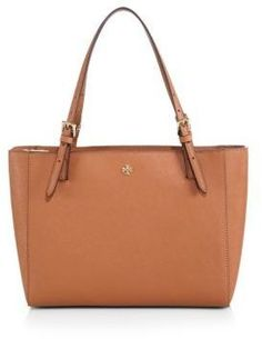 Tory Burch York Small Saffiano-Leather Tote, Handtaschen - Handbags, bags, clutches, purses, totes, shoulder bags